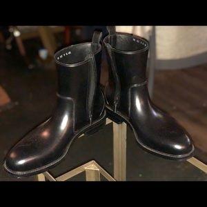 Men's Ferragamo Rain Boots, Black, Size 13